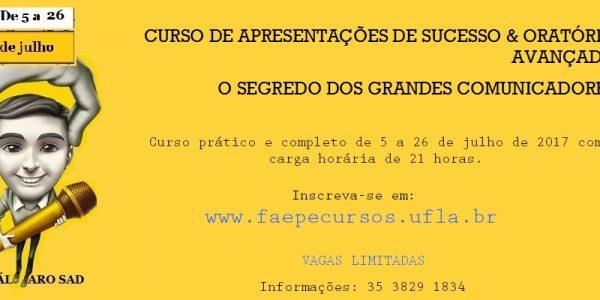 CURSO DE APRESENTAÇÕES DE SUCESSO & ORATÓRIA AVANÇADA